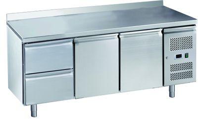 Table réfrigérée ECO2/2 avec dosseret - GN 1/1