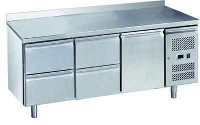 Table réfrigérée ECO 1/4 avec dosseret - GN 1/1