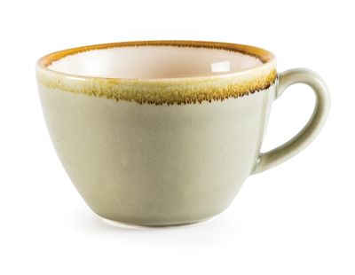 Cappuccino-Tasse, KILN, 34cl, Moosgrün
