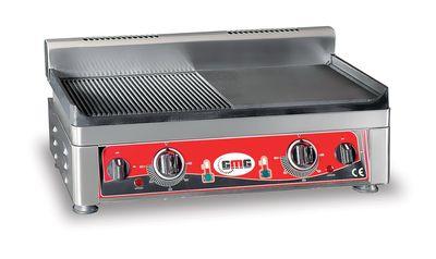 GMG Elektro-Grillplatte 52x24 ½ glatt, ½ gerillt - Tischgerät