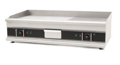 Elektro-Grillplatte Eco 998x398 ½ glatt, ½ gerillt - Tischgerät