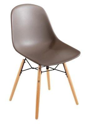 Bolero Spindelbeiniger Polypropylen Stuhl beige (2er-Pack)
