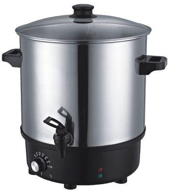 Autocuiseur (plats préparés/vin chaud) 25 litres en acier inoxydable