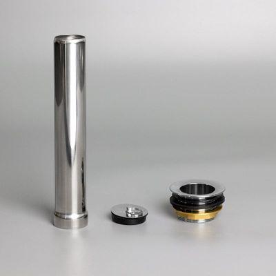 Ablaufventil aus Metall inklusive Standrohr und Stopfen für Spültische Basic