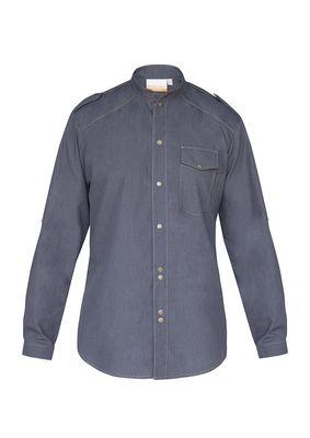 Herrenkochhemd Jeans-Style, vintage black, Größe: 62