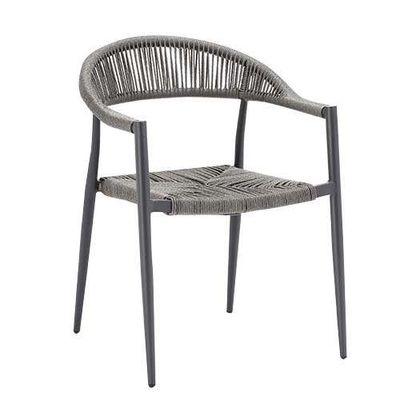 Chaise de terrasse Jonah grise – 4pièces
