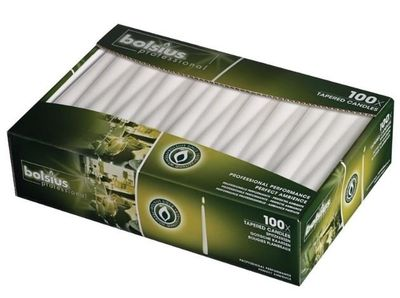 100bougies longues Bolsius, blanches