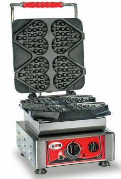 Gaufrier GMG Ti amo avec plaque de cuisson fixe, 230V, minuterie