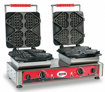 Gaufrier GMG Ti amo avec 2 plaques de cuisson fixes, 230V, minuterie