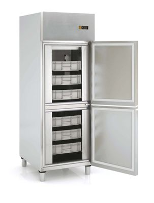 Fischkühlschrank Profi 700 EN 600 x 400 - mit 2 Halbtüren und Türanschlag links