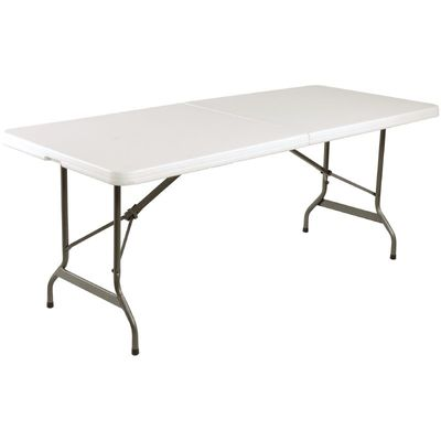 Table pliable au centre Bolero blanche 2430mm