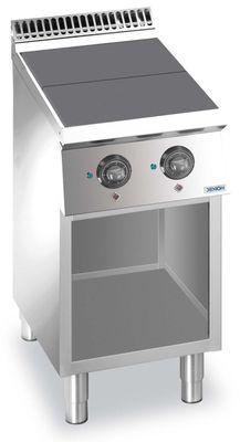 Elektroherd Dexion Lux 700 - 40/73 quadratische, abgesenkte Kochflächen