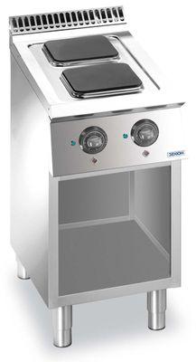 Cuisinière électrique Dexion Lux 700 - 40/73, surfaces de cuisson de cuisson carrées