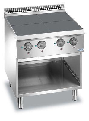 Cuisinière électrique Dexion Lux 700 - 70/73, plaques de cuisson carrées abaissées