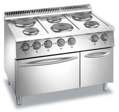 Cuisinière électrique Dexion Lux 700 - 110/73 avec four électrique - plaques de cuisson rondes