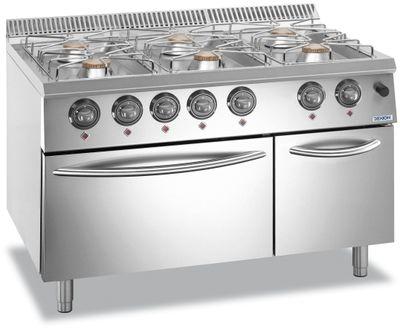 Cuisinière à gaz Dexion Lux 700 - 110/73 avec four à gaz 48 kW