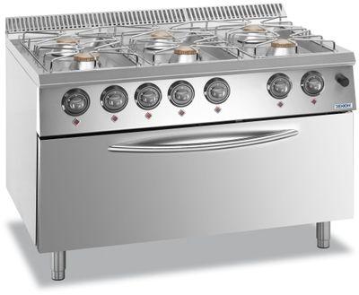 Cuisinière à gaz Dexion Lux 700 - 110/73 avec four à gaz 41 kW