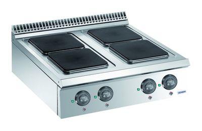 Cuisinière électrique Dexion Lux 980 - 80/90, plaques de cuisson carrées, appareil à poser