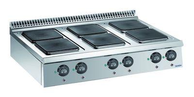 Cuisinière électrique Dexion Lux 980 - 120/90, plaques de cuisson carrées, appareil à poser