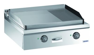 Elektro-Grillplatte Dexion Lux 980 - 80/90 2/3 glatt, 1/3 gerillt - Tischgerät