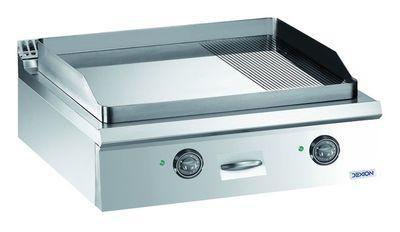 Elektro-Grillplatte Dexion Lux 980 - 80/90 2/3 glatt, 1/3 gerillt, verchromt - Tischgerät