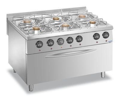 Fourneau à gaz - Dexion Lux 980 - 120/90 ─ 64 kW avec un grand four grill à gaz