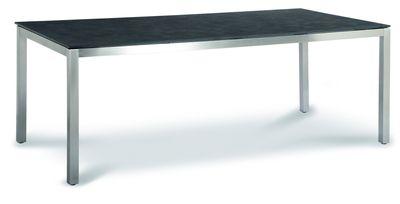 Tisch Marbella 160x90cm Edelstahl/Ardesia