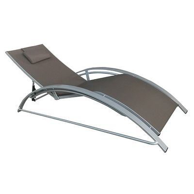 Chaise longue Maxus taupe