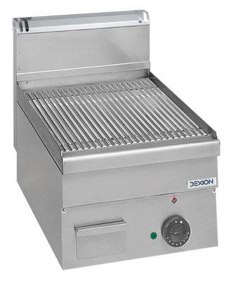 Elektro-Grillplatte Dexion Serie 66 - 40/60 gerillt Tischgerät