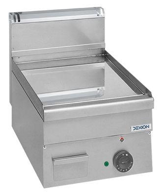 Elektro-Grillplatte Dexion Serie 66 - 40/60 glatt, verchromt Tischgerät