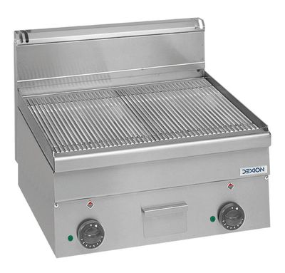 Elektro-Grillplatte Dexion Serie 66 - 60/60 gerillt Tischgerät