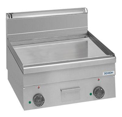 Elektro-Grillplatte Dexion Serie 66 - 60/60 glatt, verchromt Tischgerät