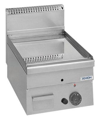 Gas-Grillplatte Dexion Serie 66 - 40/60 glatt, verchromt Tischgerät