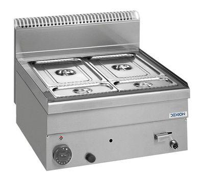 Gas Bain-Marie Dexion Serie 66 - 60/60 - GN 1/1+1/4+1/4 Tischgerät