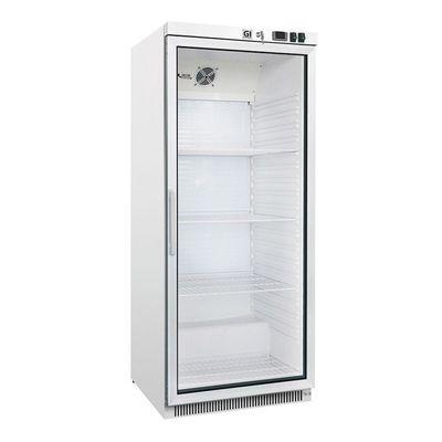 Réfrigérateur de stockage Gastro-Inox 600 litres blanc avec porte vitrée