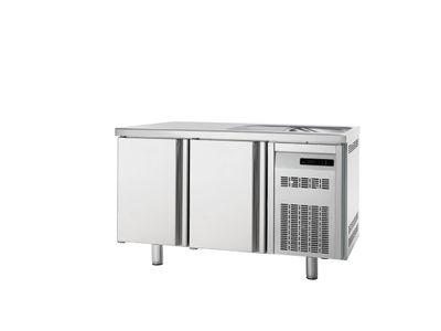 Table réfrigérée Premium 2/0 avec évier