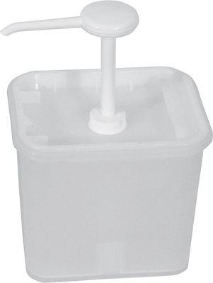 Distributeur de sauce 2 litres, récipient 17x14x15.5cm, 30 ml/portion