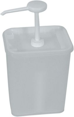 Distributeur de sauce 3 litres, récipient 17x14x15.5cm, 30 ml/portion