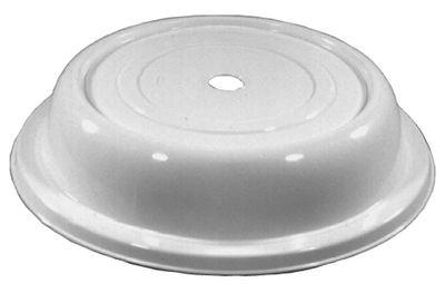 Cloche à assiette PP 26,5 cm, blanche
