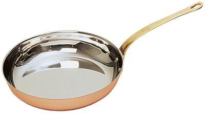 Poêle à flamber «Copper-Look ECO», ronde, avec manche, Ø de 22 cm x H: 4,5 cm