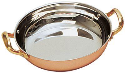 """Servierpfanne """"Kupfer-Look ECO"""", rund, mit zwei Seitengriffen, Ø18 cm x H: 4 cm"""