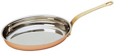 Poêle à flamber «Copper-Look ECO», ovale, avec manche, 20 x 30 x 4 cm