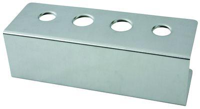 Eistütenhalter, 4 Löcher 2 x 31mm, 2 x 26mm, 27cm x 9,5cm, Höhe 9cm