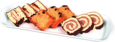 Kuchen-/Aufschnittplatte, 370 x 140 x 25 mm