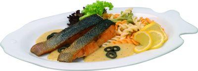 Assiette à poisson, blanche, 32 cm