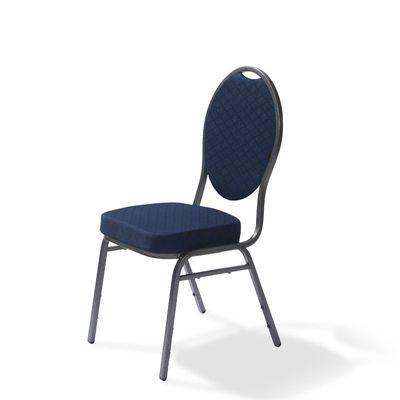 Chaise empilable Palace bleue – 4pièces