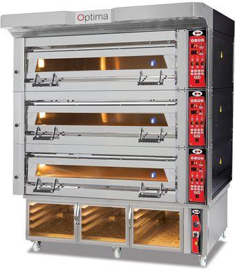 Bäckerei- & Konditoreiofen - 3 Backkammern inkl. Aufsatzhaube & Gärschrank