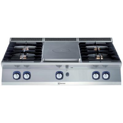 Fourneau Electrolux plaque coup de feu gaz – Appareil de table 4flammes XP700 – 25,6kW