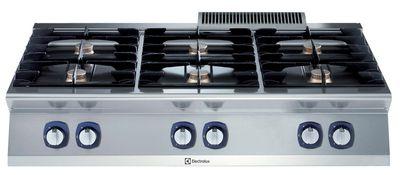 Fourneau à gaz Electrolux – Appareil de table 6flammes XP700 – 33kW