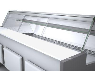Porte coulissante en plexiglas Profi250, verre frontal bombé - 1100 mm